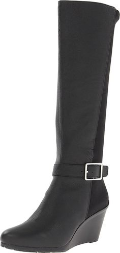 Calvin Klein Women's Taya Leather Slouch Boot >>> To view further, visit now : Boots Shoes