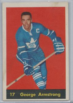 George Armstrong 1960-61 Parkhurst # 16 Toronto Maple Leafs EX