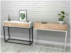 Mesas de Arrime en Hierro + Madera de Paraíso / Steel & Wood Sideboard