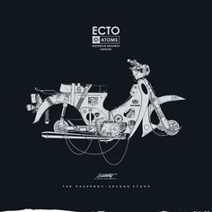 Creative Posters, Silence, Television, Illustration, and Poster image ideas & inspiration on Designspiration Motorcycle Posters, Motorcycle Art, Bike Art, Classic Motorcycle, Honda Cub, Ligne Claire, Car Illustration, Ex Machina, Retro Cars