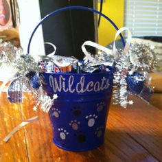 Fun cheer bucket for the car wash winner!
