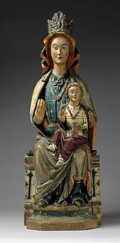 Enthroned Virgin and Child, ca. 1280-1300, wood, Made in Navarre, Spain.