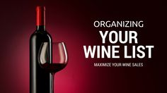 Do not organize your list by price. You'd better not sort your wines by price. Wine Sale, Wine List, Organization, Organizing, Wines, Red Wine, Alcoholic Drinks, Make It Yourself, Hospitality