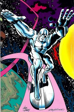 Silver Surfer by Jack Kirby and Joe Sinnott for JK Collector 43 2005 by giantsizegeek, via Flickr