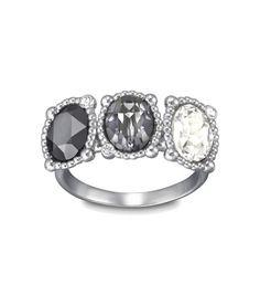 Swarovski Jewellery rosette dark ring