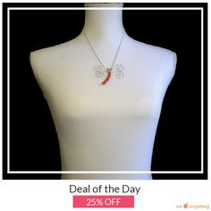 Today Only! 25% OFF this item.  Follow us on Pinterest to be the first to see our exciting Daily Deals. Today's Product: Deal Of The Day - Howlite & Crystal Dragonfly Pendant Necklace - Handmade Wire Wrapped - Light Siam Red - Made in the USA! - Gift Buy now: https://www.etsy.com/listing/254695035?utm_source=Pinterest&utm_medium=Orangetwig_Marketing&utm_campaign=Deal%20of%20the%20Day   #etsy #etsyseller #etsyshop #etsylove #etsyfinds #etsygifts #musthave #loveit #instacool #shop #shopping…