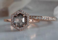 This Moonstone engagement ring set Rose gold Diamond cluster ring Unique engagement ring vintage Curved wedding women Bridal Promise gift for her is just one of the custom, handmade pieces you'll find in our engagement rings shops. Wedding Rings Simple, Custom Wedding Rings, Wedding Rings Vintage, Diamond Wedding Rings, Bridal Rings, Unique Rings, Vintage Rings, Beautiful Rings, Wedding Jewelry