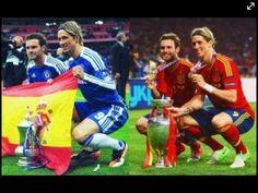 Juan Mata and Fernando Torres, two Chelsea players who scored a goal each in Spain's Euro 2012 championship winning game  https://sphotos.xx.fbcdn.net/hphotos-snc7/293738_10151072320627442_860782408_n.jpg