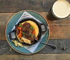 """""""Beer and Beef Pot Pie! Enjoy our Slow cooked beef stew with a buttery pastry to keep you warm on a winter night. It's the perfect combination."""""""