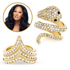 """""""Rings of Fire"""" from Kimora's JustFab collection"""