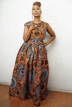 The N D O T O Belle Skirt Set made from Vlisco by LiLiCreations