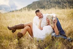 Cute Country Engagement Shot