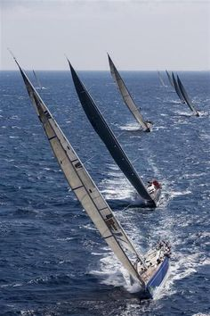 Race day, I want to go to Hawaii and contact a friend at one of the yacht clubs to see if I can get on a boat to go out on a race. Sail Racing, Sailboat Racing, Yacht Boat, Yacht Design, Sail Away, Set Sail, Tall Ships, Water Crafts, Sailing Ships