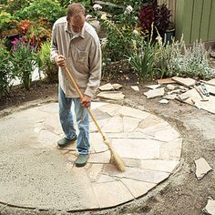 creating a flagstone patio space - Sunset Magazine for details...