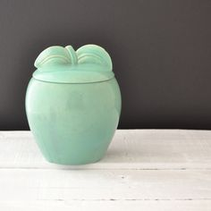 Vintage Cookie Jar  Red Wing Pottery  Apple by VintageResolution, $58.00