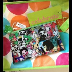 Tokidoki Sephora Make Up Pouch Purse Characters Excellent condition. Smoke free home. No scratches. Clear plastic zip up. Rainbow unicorn. Heart and crossbones. Collectible. Statue of Liberty. Skulls. Masks. Crown. Princess. Diamond. Rocks.  Robot. Lightning. Stars. Purple hair. Money. Make up palette. Guitar rock star. Evil candy. Smile. Cactus dog. Adios cape. Crossbones. Bows. Green. Pink. Blue. Yellow. Red. White. Gun. Flower power. Sephora Bags Cosmetic Bags & Cases