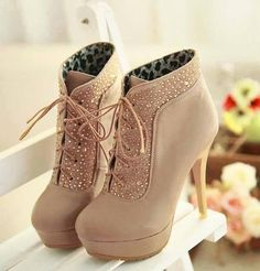 Cute High Heels These are just perfect heeled shoes for any heel addict, note the traction they are gonna provide.