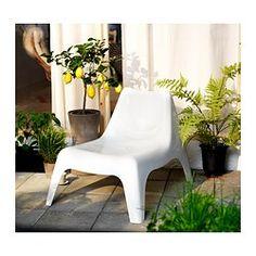 IKEA PS VÅGÖ Armless chair, outdoor - white, - IKEA