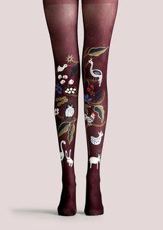 viken plan creative designer brand pantyhose stockings socks stockings Secret Garden pattern - Taobao global Station