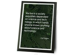 "Carl Sagan Quote Typography Wall Plaque - 9"""" x 12"""""