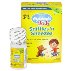 Buy Now Hylands 4Kids Sniffles n Sneezes Natural Relief Tablets - 125 ea. Provides natural relief of common cold symptoms in children | myotcstore.com - Ezy Shopping, Low Prices & Fast Shipping.