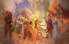 Photo wallpaper anime, Roush, Han, Naruto, Killer Bee, Jinchuuriki, Yugito Nii, Fuu, You will chop, Yagura, Gaara, ...