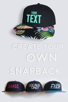newest 02f7b 6a661 Have your own idea embroidered on this hat and create something unique