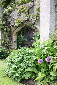 Romantic ruin in the garden of Sudeley Castle