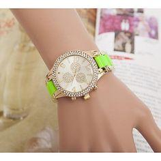 EUR € 9.19 - mode strass vrouwen bloem stalen band quartz horloge (verschillende kleuren), Gratis Verzending voor alle Gadgets!