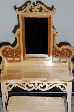 Victorian Vanity & Bench Set for Barbie by KentsKrafts on Etsy