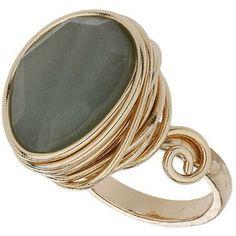 TOPSHOP Jade Wrap Stone Ring