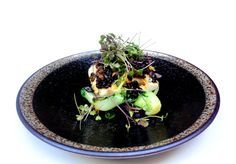 Steamed Seabass with Black Beans Sauce - delicately tender seabass fillet, steamed then served with baby sprouts & on the bed of baby bok choi.  Healthy, yet full of flavours.