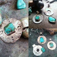 Nearly finished these little lovelies. I love working with turquoise. Soon to be listed in my Etsy shop. www.bohobeauxjewellery.com
