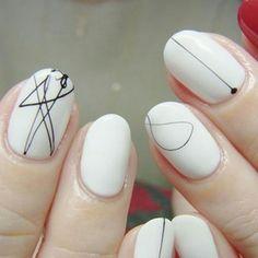 Minimal Line Nail Art Design, Abstract Lines