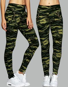 $11.93 Camo High Waisted Leggings