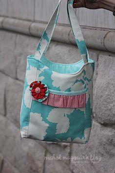 Gift Bag sewn by Nichol Magourik pattern link on her blogpost
