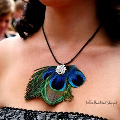 Look for top quality Necklaces & Pendants? Buy Necklaces & Pendants from Fobuy enjoying great price and satisfied customer service. Peacock Jewelry, Peacock Necklace, Feather Jewelry, Feather Necklaces, Beaded Earrings, Wedding Accessories, Wedding Jewelry, Jewelry Crafts, Handmade Jewelry