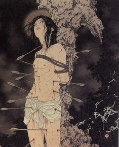 """Saint Sebastian"" by Takato Yamamoto (2005) Patron saint of archers, athletes, and soldiers."