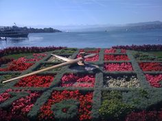 Flower clock, Lake Zurich, Switzerland