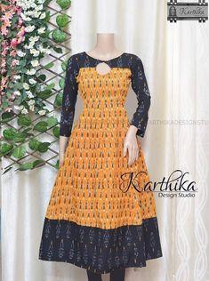 Latest Kurti Designs, Simple Kurti Designs, Kids Blouse Designs, Kurta Designs Women, Designs For Dresses, Salwar Designs, Anarkali Kurti, Churidar, Lehenga