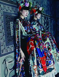 Harper's Bazaar Korea July 2014 Foto Fashion, Fashion Week, Fashion Art, High Fashion, Fashion Design, Editorial Photography, Fashion Photography, Ethno Style, Bohemian Style