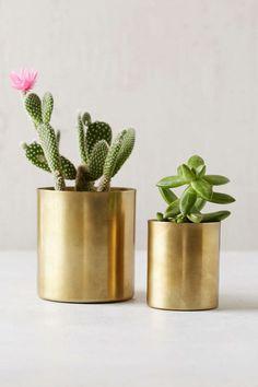 Metal Planters #decor #planter #metallic