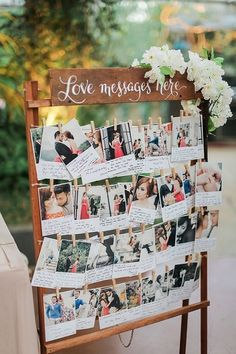 Polaroid wedding guest book ideas with love messages Chic Wedding, Perfect Wedding, Fall Wedding, Wedding Reception, Rustic Wedding, Our Wedding, Dream Wedding, Wedding Blog, Trendy Wedding