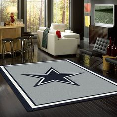 Show your Dallas Cowboys pride and spirit with officially licensed area rugs. Premium Stainmaster® nylon fiber. Fade resistant. Durable.