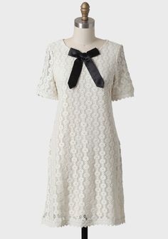 Sweet Miss Clara Dress By Knitted Dove | Modern Vintage Black And White