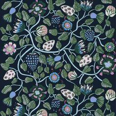 Tiara fabric from Marimekko by Erja Hirvi Diy Interior Doors, Cafe Interior, Scandinavian Design Centre, Marimekko Fabric, Decoration For Ganpati, Scandinavia Design, Floral Print Design, Art Floral, Interior Design Website