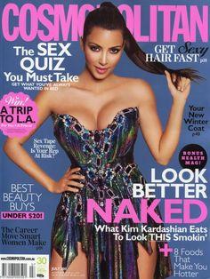 Kim Kardashian Blog: Kim Kardashian en la revista Cosmopolitan Australia