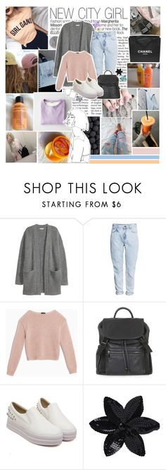"""""""Do you wanna come over later, to my house? Watch American beauty in the dark. And I'll hold your hand till the very end, the very end. And we'll stay awake till tomorrow starts."""" by radiant-universe ❤ liked on Polyvore featuring Chanel, Kofta, H&M, Max&Co., Topshop, ASOS, Clips and fruitequality"""