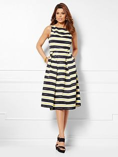 Shop Eva Mendes Collection - Felicity Dress - Stripe. Find your perfect size online at the best price at New York