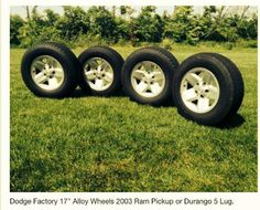 Dodge Wide Five Spoke Factory 5 Lug Truck Wheels Ram 1500 Pickup For Sale or Trade. Alloy 17 inch Rim Set.